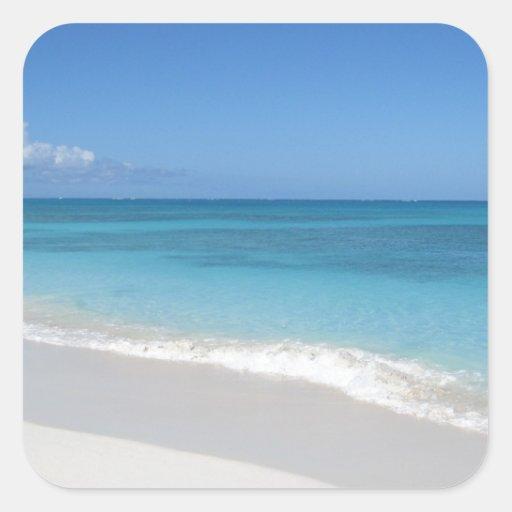 Turks and Caicos Dream Beach Square Sticker