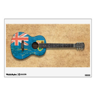Turks and Caicos Flag Acoustic Guitar Wall Decal