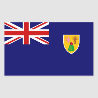 Turks and Caicos Flag. Britain, British Overseas Rectangular Sticker