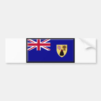 Turks and Caicos Flag Bumper Sticker