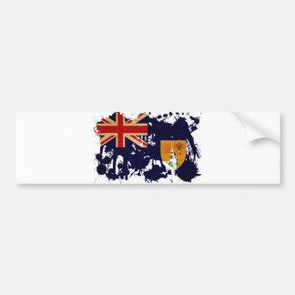 Turks and Caicos Flag Bumper Sticker