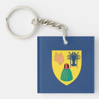Turks and Caicos Flag Keychain