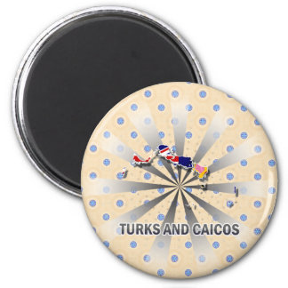 Turks And Caicos Flag Map 2.0 Magnet