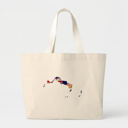 Turks And Caicos flag map Large Tote Bag