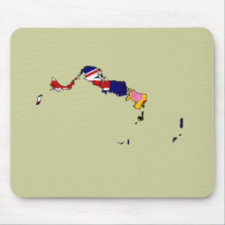 Turks And Caicos flag map Mouse Mats