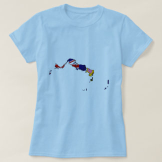 Turks And Caicos flag map T-Shirt