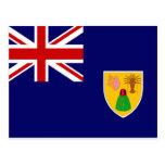 Turks and Caicos Flag Post Card