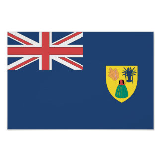 Turks and Caicos Flag Poster