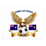 Turks and Caicos Football Designs Post Cards