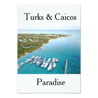 Turks and Caicos from above Card