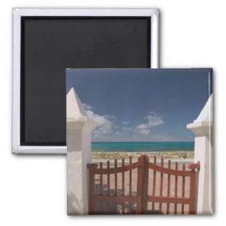 Turks and Caicos, Grand Turk Island, Cockburn 5 2 Inch Square Magnet