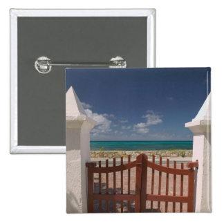 Turks and Caicos, Grand Turk Island, Cockburn 5 2 Inch Square Button