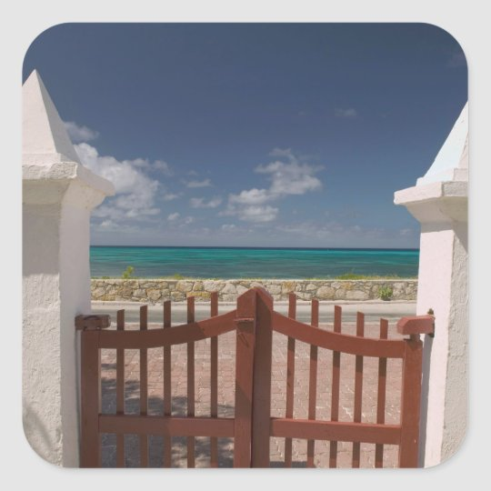 Turks and Caicos, Grand Turk Island, Cockburn 5 Square Sticker