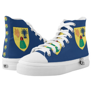 Turks and Caicos High-Top Sneakers