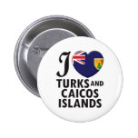 Turks and Caicos Islands. 2 Inch Round Button