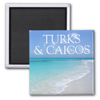 Turks and Caicos Islands Beautiful Beach View Magnet