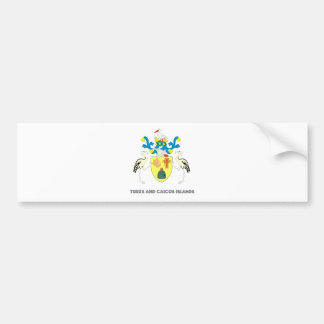 Turks and caicos islands coat of arms bumper stickers