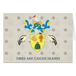 Turks and caicos islands coat of arms greeting card