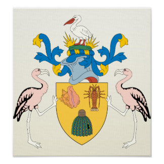 Turks And Caicos Islands Coat of Arms detail Poster