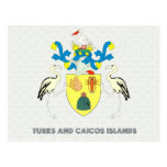 Turks and caicos islands coat of arms post cards
