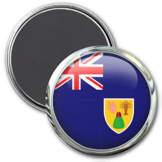 Turks And Caicos Islands Flag Glass Ball Magnet