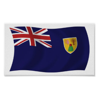 Turks And Caicos Islands Flag Poster Print