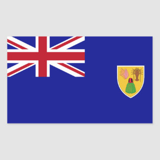 Turks and Caicos Islands Flag Rectangular Sticker