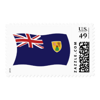 Turks And Caicos Islands Flag Stamps