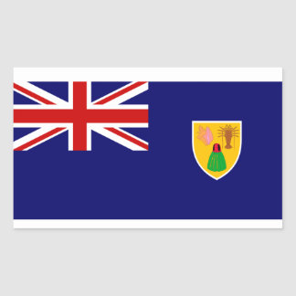 Turks and Caicos Islands Flag Rectangle Sticker