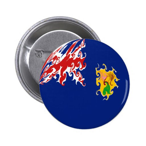 Turks and Caicos Islands Gnarly Flag Buttons
