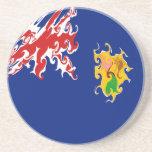 Turks and Caicos Islands Gnarly Flag Coasters