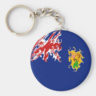 Turks and Caicos Islands Gnarly Flag Keychain