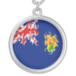 Turks and Caicos Islands Gnarly Flag Necklace