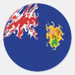 Turks and Caicos Islands Gnarly Flag Classic Round Sticker