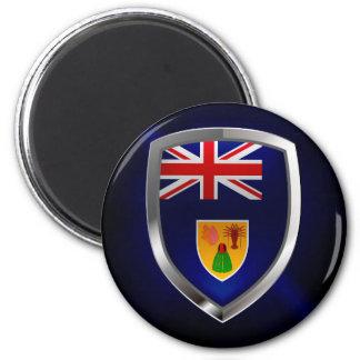 Turks and Caicos Islands Metallic Emblem Magnet