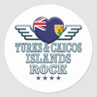 Turks and Caicos Islands Rock v2 Stickers