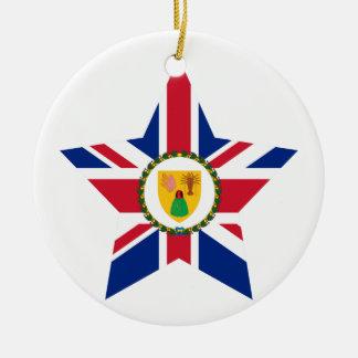 Turks+and+Caicos+Islands Star Ceramic Ornament