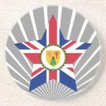 Turks+and+Caicos+Islands Star Drink Coaster