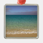 Turks and Caicos, Providenciales Island, Grace 2 Square Metal Christmas Ornament