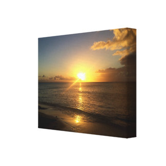 Turks and Caicos sunset canvas