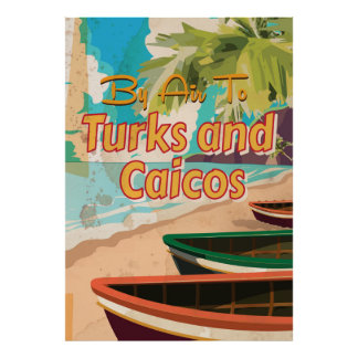 Turks and Caicos Vintage Travel Poster