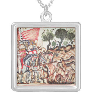 Turks and Moors Regaining their Land Silver Plated Necklace