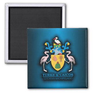 Turks & Caicos COA 2 Inch Square Magnet