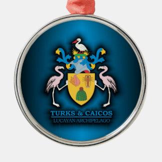 Turks & Caicos COA Metal Ornament