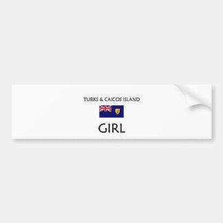 TURKS & CAICOS ISLAND GIRL BUMPER STICKERS