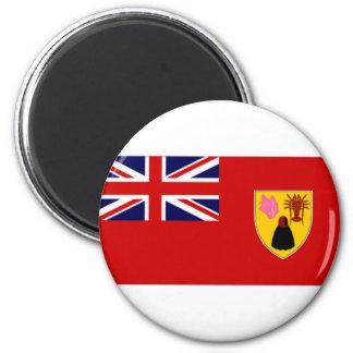 Turks Caicos Islands Civil Ensign 2 Inch Round Magnet