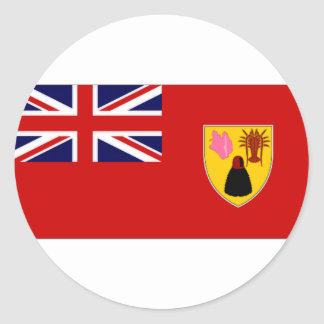 Turks Caicos Islands Civil Ensign Round Stickers