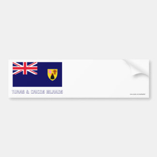 Turks & Caicos Islands Flag with Name Bumper Sticker