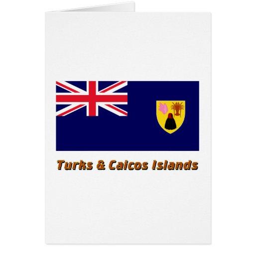 Turks & Caicos Islands Flag with Name Cards