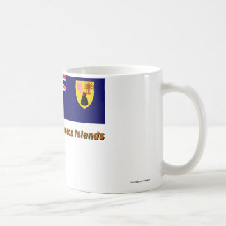 Turks & Caicos Islands Flag with Name Coffee Mug